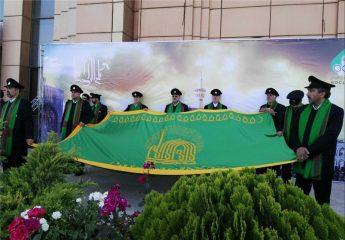 اهتزاز پرچم امام رضا(علیه السلام) در کمیته ملی المپیک